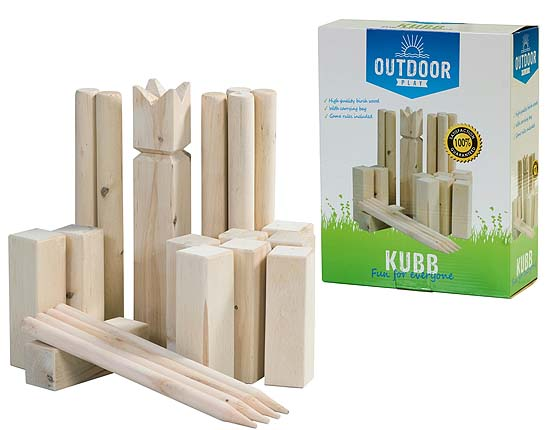 Outdoor Play Kubb Spel