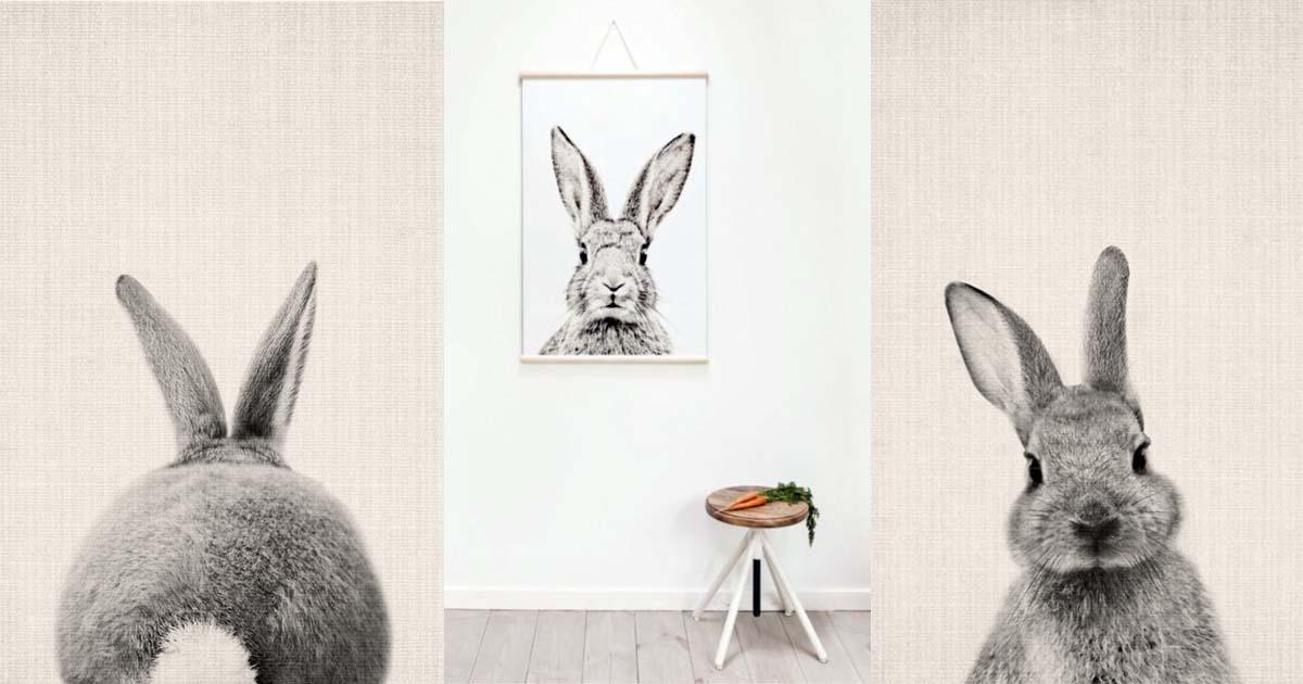Babykamer Behang Konijn : Top woonaccessoire konijn voor kids voor in de baby of kinderkamer