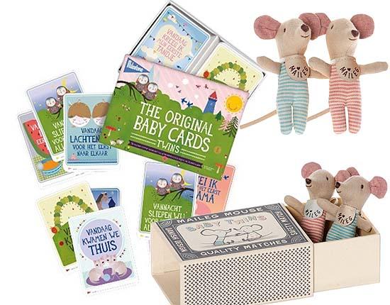Twin Milestone Cards en Baby Tweeling in doosje van Maileg